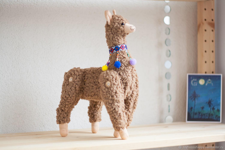 Soft toy Alpaca Lama handmade, Stuffed Toys, Dzerzhinsky,  Фото №1