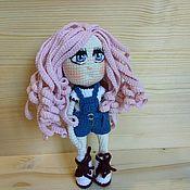 Куклы Тильда ручной работы. Ярмарка Мастеров - ручная работа Девочка с розовыми волосами. Handmade.