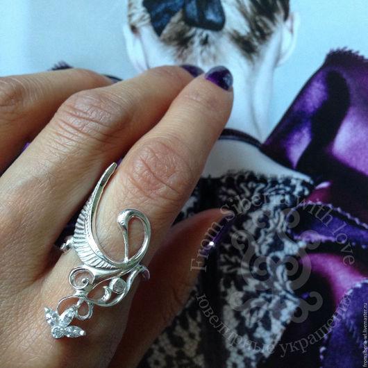 """Кольца ручной работы. Ярмарка Мастеров - ручная работа. Купить Кольцо """"Журавль"""" К334. Handmade. Кольцо серебро"""