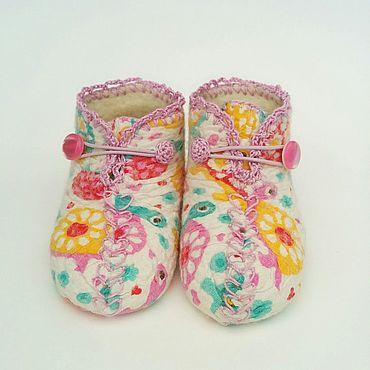 """Обувь ручной работы. Ярмарка Мастеров - ручная работа Пинетки нуновойлок """"Черепашки"""". Handmade."""