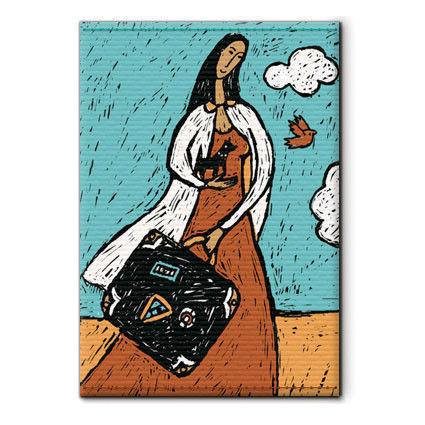 """обложка на паспорт для любительниц путешествий """"Девушка с чемоданом"""""""
