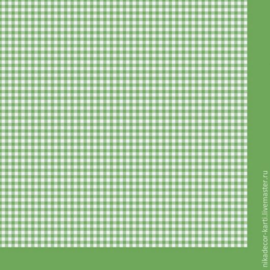 Декупаж и роспись ручной работы. Ярмарка Мастеров - ручная работа. Купить Мелкая клетка на зеленом (SLOG022101) - салфетка для декупажа. Handmade.
