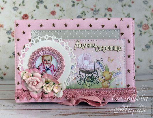 """Подарки для новорожденных, ручной работы. Ярмарка Мастеров - ручная работа. Купить Мамины сокровища для девочки """"Звездочки"""". Handmade. Бледно-розовый"""