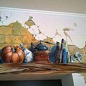 """Дизайн и реклама ручной работы. Ярмарка Мастеров - ручная работа роспись стены """"роспись с кошкой"""". Handmade."""
