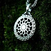 Украшения handmade. Livemaster - original item Pendant / Amulet Black Sun  of silver 925. Handmade.