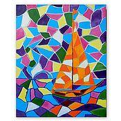 """Картины и панно handmade. Livemaster - original item Картина """"Разноцветное настроение"""". Handmade."""