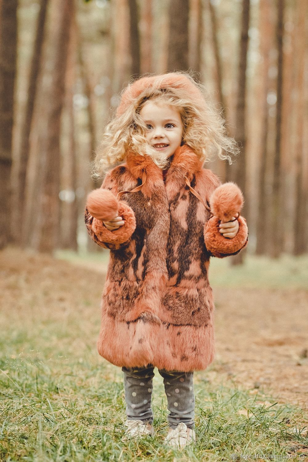 Girls Rabbit Fur Coat, Childrens outerwears, Moscow,  Фото №1