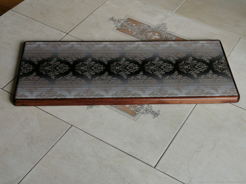 Керамическая термоподставка на деревянной платформе PCT-G0000008, Подставка под горячее, Димитровград,  Фото №1