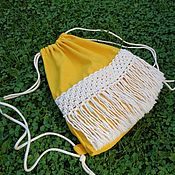 Сумки и аксессуары handmade. Livemaster - original item Eco bag backpack. Handmade.