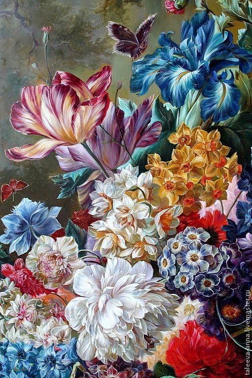 """Картины цветов ручной работы. Ярмарка Мастеров - ручная работа. Купить Панно """"Цветы"""". Handmade. Цветы, натюрморт, ирис"""