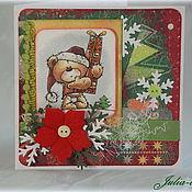 """Открытки ручной работы. Ярмарка Мастеров - ручная работа Мини-открытка """"Новогодняя"""" (2). Handmade."""