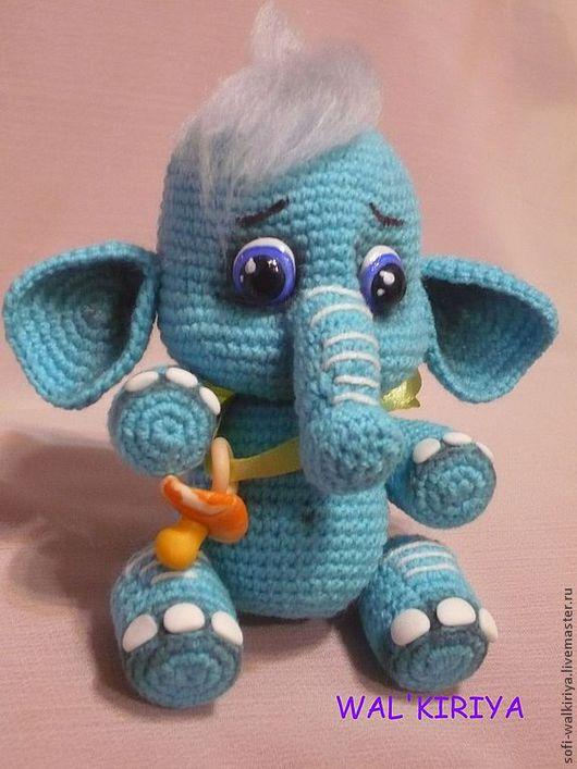 Игрушки животные, ручной работы. Ярмарка Мастеров - ручная работа. Купить Новорожденный слоник. Handmade. Бирюзовый, малыш, наполнитель синтепон