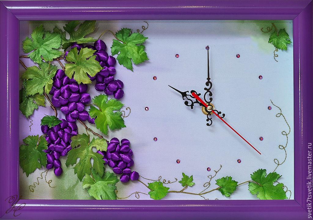 Виноград вышивка лентами 98