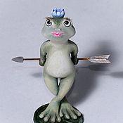 Мини фигурки и статуэтки ручной работы. Ярмарка Мастеров - ручная работа Царевна-лягушка. Handmade.