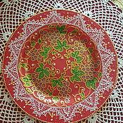 Тарелки ручной работы. Ярмарка Мастеров - ручная работа Интерьерная тарелка.. Handmade.