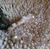 Свадебный салон handmade. Livemaster - original item Rock Crystal necklace in Wire Wrap technique. Handmade.