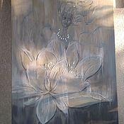Картины и панно handmade. Livemaster - original item Interior painting with silver and gold leaf