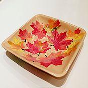 """Посуда ручной работы. Ярмарка Мастеров - ручная работа """"Осень-осень в пастельных тонах"""" тарелочка керамическая ручной работы. Handmade."""