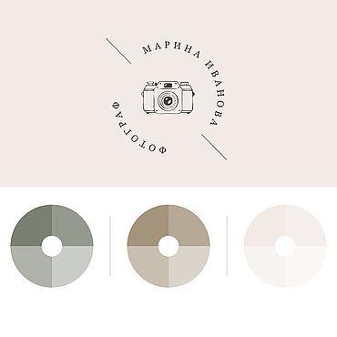 Дизайн и реклама ручной работы. Ярмарка Мастеров - ручная работа Логотип и фирменный стиль для фотографа. Handmade.