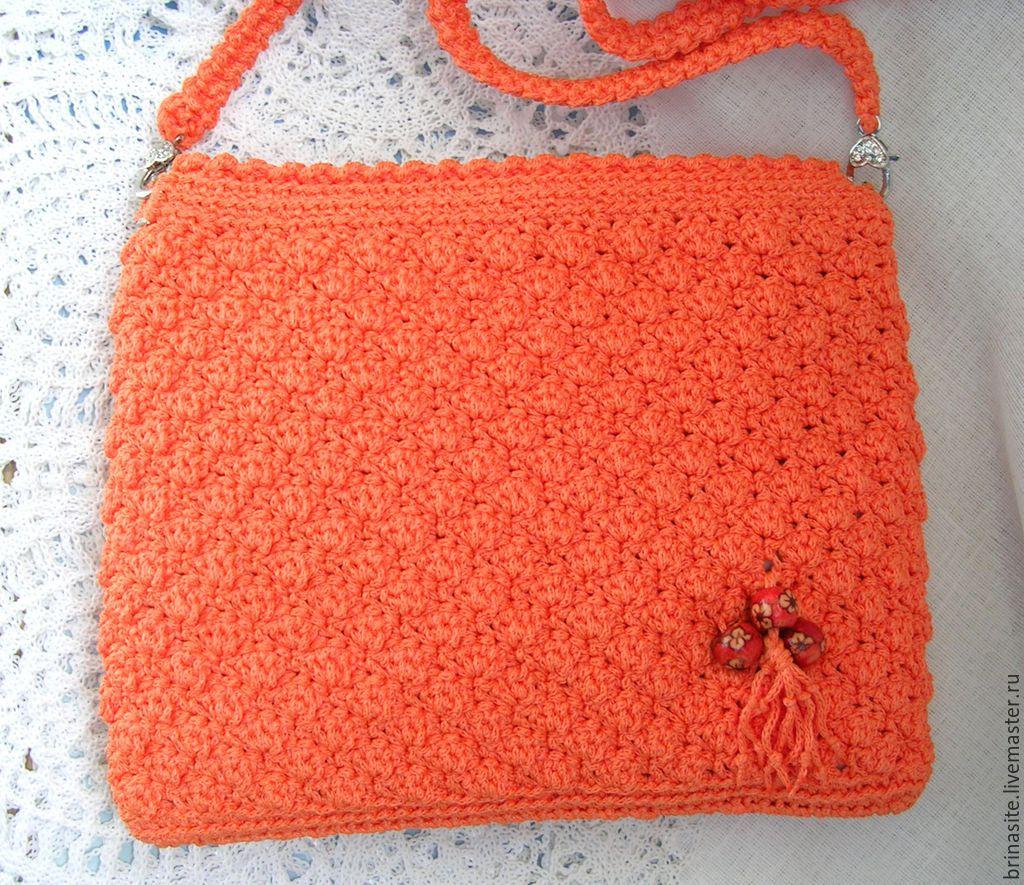 Вязание сумки крючком через плечо