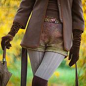 Одежда ручной работы. Ярмарка Мастеров - ручная работа Шорты теплые из войлока. Handmade.