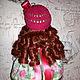 """Куклы тыквоголовки ручной работы. Интерьерная кукла """"Розочка"""". Наталия Агеева. Интернет-магазин Ярмарка Мастеров. Интерьерная кукла, зеленый"""