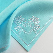 Gifts handmade. Livemaster - original item Wedding Napkins with Embroidery in the style of Tiffany