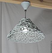 Для дома и интерьера handmade. Livemaster - original item Smoky openwork lamp ceramic on a short suspension d32cm. Handmade.