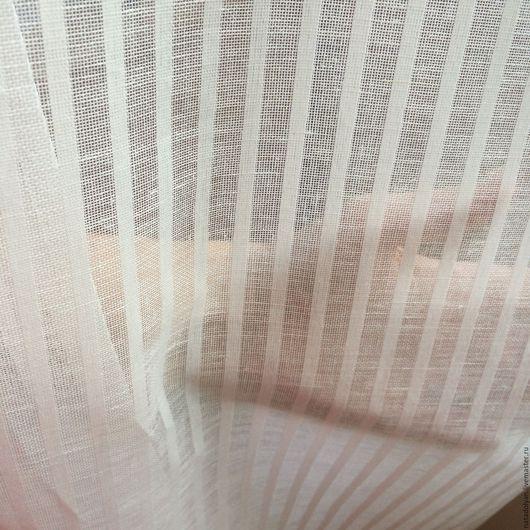 """Шитье ручной работы. Ярмарка Мастеров - ручная работа. Купить Ткань для штор льняная """"Узкая полоска"""" шир 260 см. Handmade."""