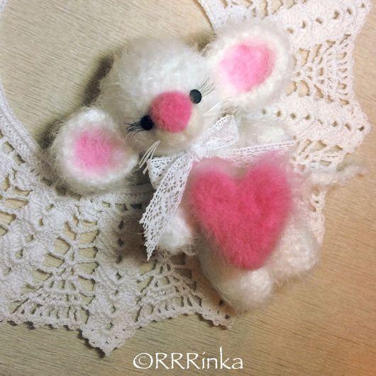 Игрушки животные, ручной работы. Ярмарка Мастеров - ручная работа. Купить Влюблённый Мышь. Handmade. Мышка, валентинка, Признание в любви