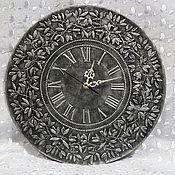 Для дома и интерьера ручной работы. Ярмарка Мастеров - ручная работа Часы настенные Серебряная ветвь. Handmade.