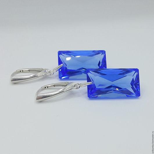 """Серьги ручной работы. Ярмарка Мастеров - ручная работа. Купить """"Швейцария"""" - серьги. Handmade. Синий, синие серьги"""