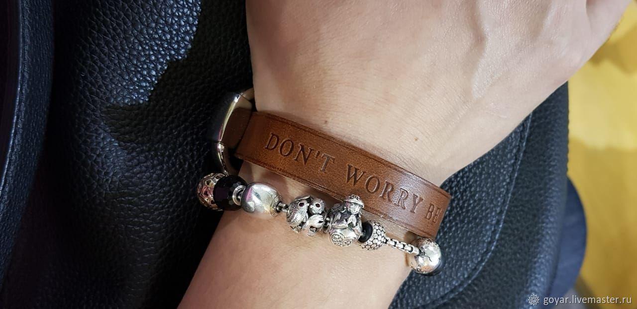Bracelets handmade. Livemaster - handmade. Buy Adjustable leather buckle bracelet.Italian vegetable tanned leather.Handmade, buckle bracelet