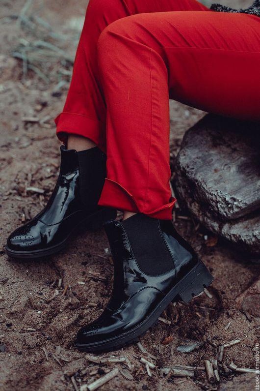 Обувь ручной работы. Ярмарка Мастеров - ручная работа. Купить - 35%! Полусапоги Business. Handmade. Черный, демисезонные сапоги