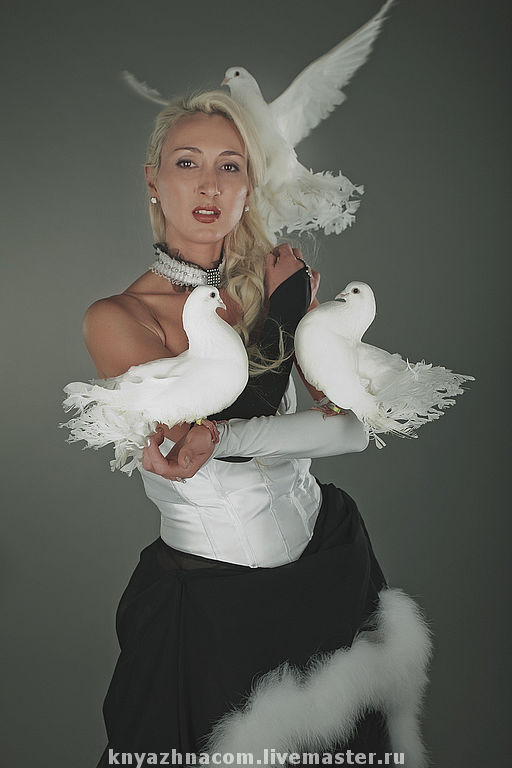 Карнавальные костюмы ручной работы. Ярмарка Мастеров - ручная работа. Купить Платье для номера с голубями.. Handmade. Шоу-программы, карнавал