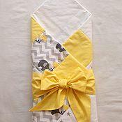 Работы для детей, ручной работы. Ярмарка Мастеров - ручная работа Одеяло-конверт для малыша. Handmade.
