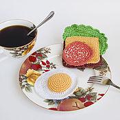 Куклы и игрушки ручной работы. Ярмарка Мастеров - ручная работа Вязаная еда - бутерброд. Handmade.