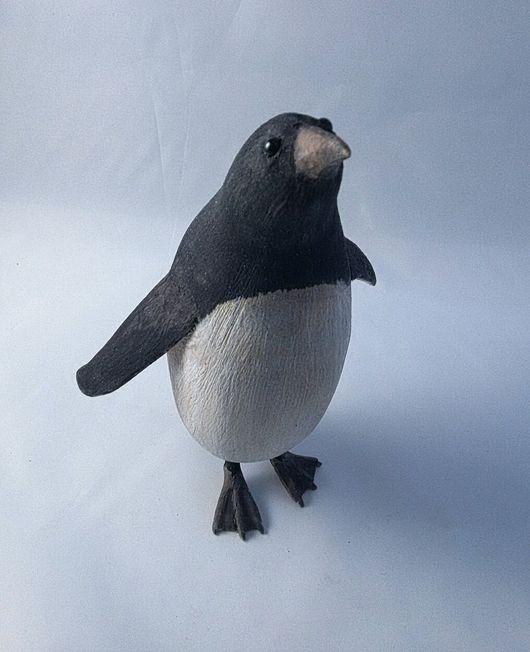 Статуэтки ручной работы. Ярмарка Мастеров - ручная работа. Купить Пингвин из дерева. Handmade. Пингвин, ручная работа, фигурка из дерева