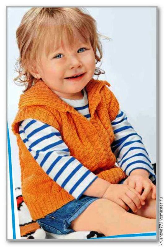 """Одежда для девочек, ручной работы. Ярмарка Мастеров - ручная работа. Купить В наличии.Детский жилетик """"Гламурчик"""" на 3-4 года из мягкой полушерсти. Handmade."""