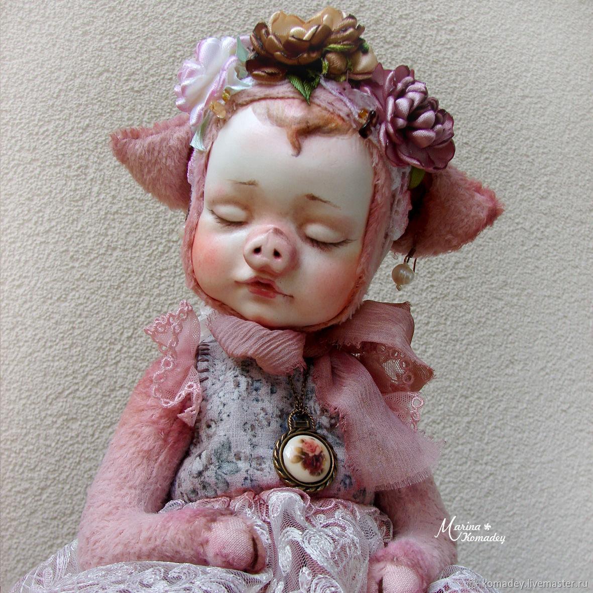 Тедди-долл Pig, Куклы и пупсы, Санкт-Петербург,  Фото №1