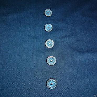 Материалы для творчества ручной работы. Ярмарка Мастеров - ручная работа Костюмная ткань темно синего цвета. Handmade.