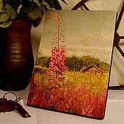 Картины и панно ручной работы. Ярмарка Мастеров - ручная работа «Иван-чай» фотокартина на дереве. Handmade.