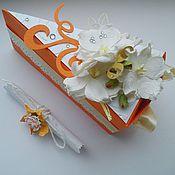 Подарки к праздникам ручной работы. Ярмарка Мастеров - ручная работа Ручная работа бумажный торт из коробочек.. Handmade.