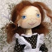 Куклы и игрушки ручной работы. Ярмарка Мастеров - ручная работа Кукла текстильная школьница, выпускница, первокласница. Handmade.