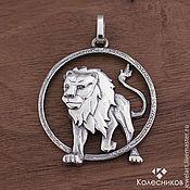 Украшения handmade. Livemaster - original item Silver bold lion pendant (925 silver). Handmade.