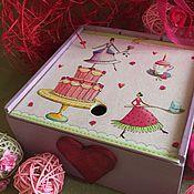 Короб ручной работы. Ярмарка Мастеров - ручная работа Коробка для сладостей. Handmade.