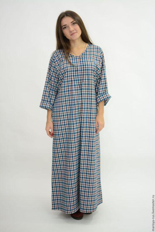 """Платья ручной работы. Ярмарка Мастеров - ручная работа. Купить Теплое платье """"Рубаха"""". Handmade. Тёмно-синий"""