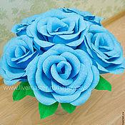 Свадебный салон ручной работы. Ярмарка Мастеров - ручная работа Розы из бумаги. Голубые цветы. Handmade.