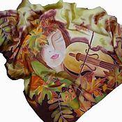 """Аксессуары ручной работы. Ярмарка Мастеров - ручная работа косынка """" Осень"""". Handmade."""