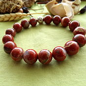 Украшения handmade. Livemaster - original item Bracelet with red Jasper. Handmade.